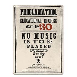 Placa de Metal A3 Harry Potter Proclamation Nº30