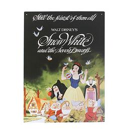 Placa de Metal A3 Snow White and the Seven Dwarfs