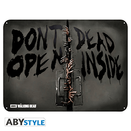 Placa de Metal The Walking Dead Zombies