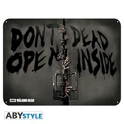 Placa de Metal The Walking Dead Zombies