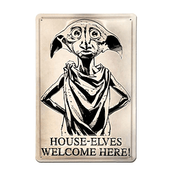 Placa de Metal 3D Harry Potter Dobby