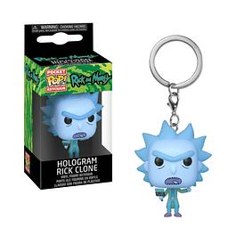 Porta-chaves Pocket POP! Rick and Morty: Hologram Rick Clone