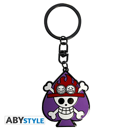 Porta-chaves One Piece Skull Ace