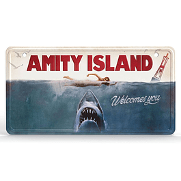 Placa de Metal Jaws Movie Poster
