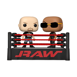POP! WWE Moment: The Rock vs Stone Cold in Wrestling Ring
