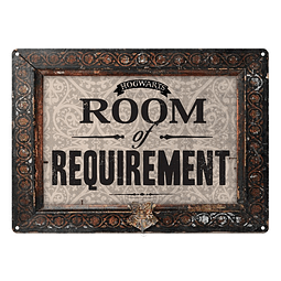 Placa de Metal Harry Potter Room of Requirement