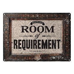 Placa de Metal Harry Potter Room of Requirement