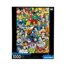 Puzzle 1000 Peças DC Comics Retro Cast
