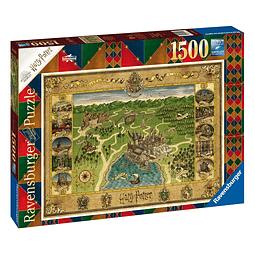Puzzle 1500 Peças Harry Potter Hogwarts Map