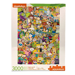 Puzzle 3000 Peças Nickelodeon Cast