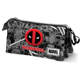 Estojo Triplo Marvel Deadpool Antihero