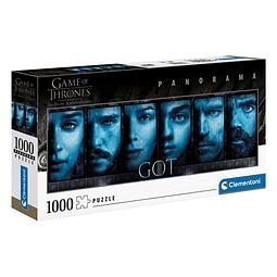 Puzzle 1000 Peças Game of Thrones Faces Panorama
