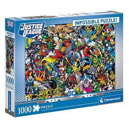 Puzzle 1000 Peças DC Comics Impossible Puzzle Justice League