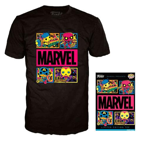 POP! Tees: Marvel Black Light Limited Edition