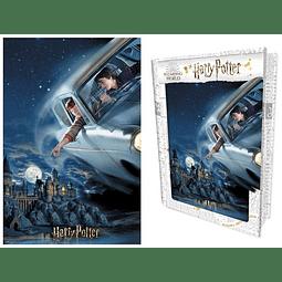 Puzzle Lenticular 3D 300 Peças Harry Potter Flight (Tin Book)