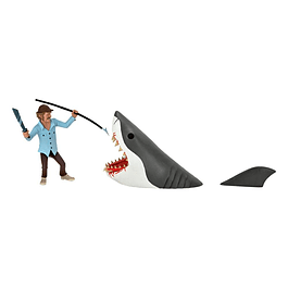 Jaws Action Figures 2-Pack Toony Terrors Jaws & Quint