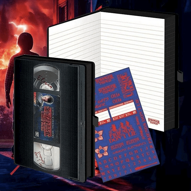 Notebook A5 Premium Stranger Things VHS