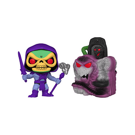 POP! Town: MOTU - Skeletor with Snake Mountain