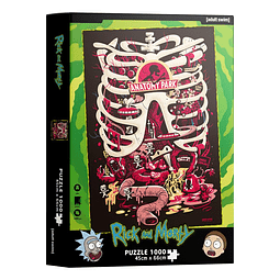Puzzle 1000 Peças Rick and Morty Anatomy Park