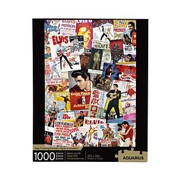 Puzzle 1000 Peças Elvis Presley Movie Poster Collage