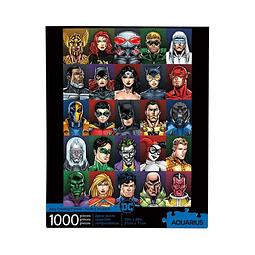 Puzzle 1000 Peças DC Comics Faces