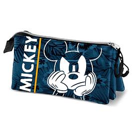 Estojo Triplo Disney Mickey Blue
