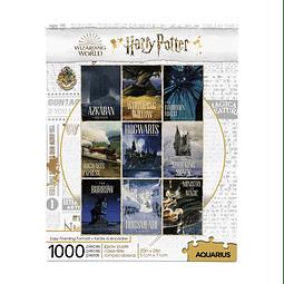 Puzzle 1000 Peças Harry Potter Travel Posters