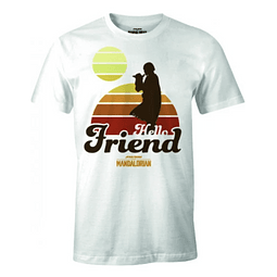 T-shirt Star Wars The Mandalorian Hello Friend
