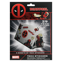Marvel Deadpool Tech Stickers