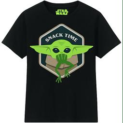 T-shirt Criança Star Wars The Mandalorian Snack Time
