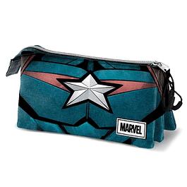 Estojo Triplo Marvel Captain America Chest