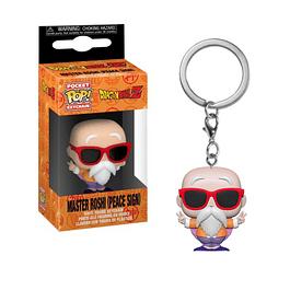 Porta-chaves Pocket POP! Dragon Ball Z: Master Roshi (Peace Sign)