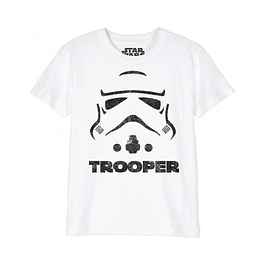 T-shirt Criança Star Wars Trooper Helmet