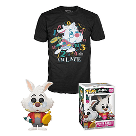 POP! & Tee Box Disney Alice in Wonderland White Rabbit