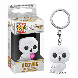Porta-chaves Pocket POP! Harry Potter: Hedwig Flocked Special Edition