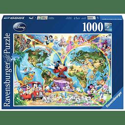 Puzzle 1000 Peças Disney's World Map