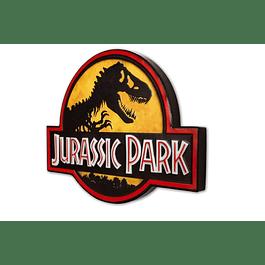 Placa de Metal Jurassic Park Logo