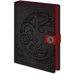 Notebook A5 Premium Game of Thrones Targaryen
