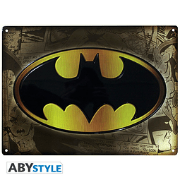 Placa de Metal Batman Logo
