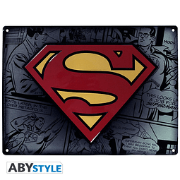 Placa de Metal Superman Logo