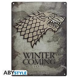 Placa de Metal Game of Thrones Stark