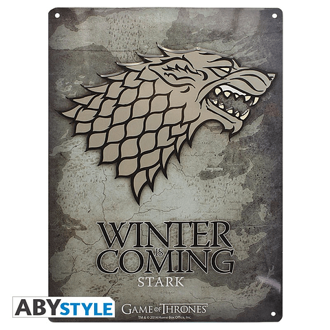 Placa de Metal Game of Thrones Stark