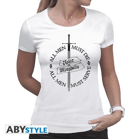 "T-shirt Game of Thrones ""Valar Morghulis"""