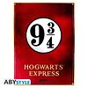 Placa de Metal Harry Potter Plataforma 9 3/4