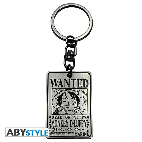 Porta-chaves One Piece Wanted Luffy