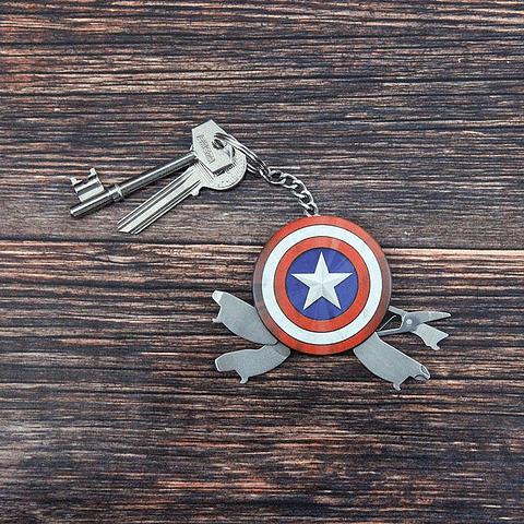 Porta-chaves Marvel Captain America Multifunções