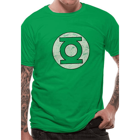 T-shirt Green Lantern Logo Distressed