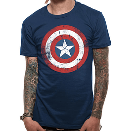 T-shirt Captain America Shield Distressed