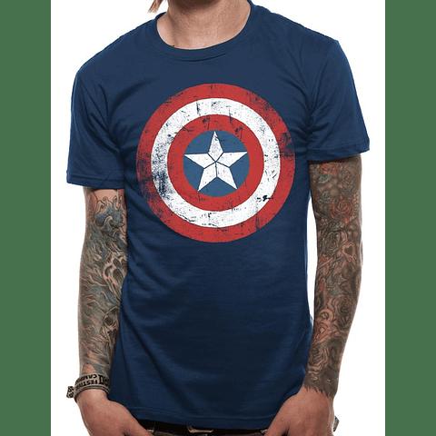 T-shirt Captain America Shield Distressed
