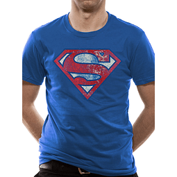 T-shirt Superman Logo Distressed